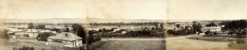 Panoramic View From Sussex Street, North Adelaide, c1872-1875, By Townsend Duryea